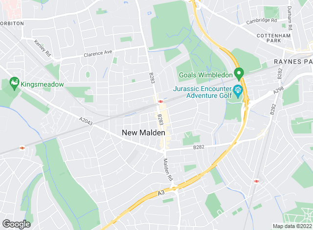 Map for Curchods Estate Agents, New Malden