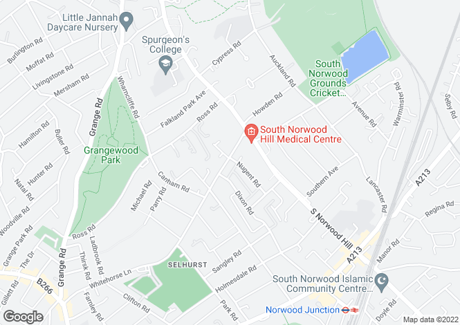 Map for Whitehorse Lane, South Norwood, SE25