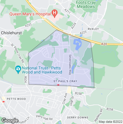 Map of property in St. Pauls Cray