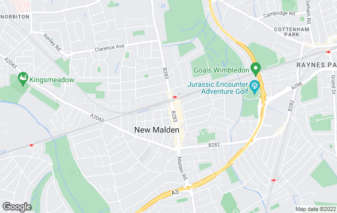 Map for Groves Residential , New Malden