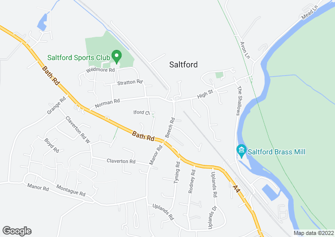 Map for The White House Beech Road, Saltford, Saltford, BS31