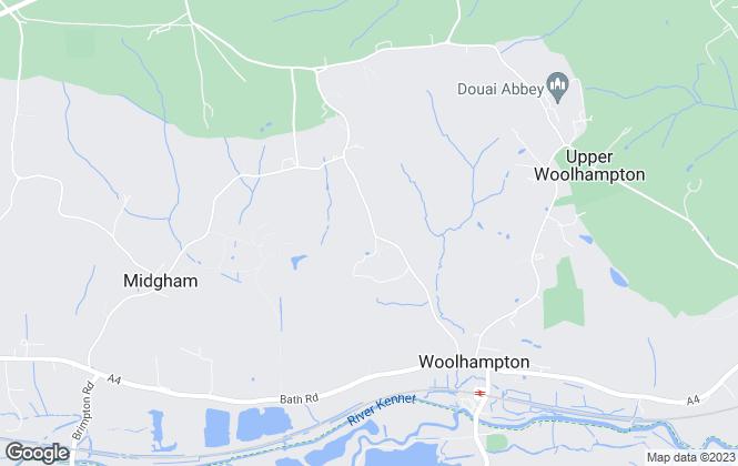 Map for Black Cygnet Properties Ltd, Midgham Green