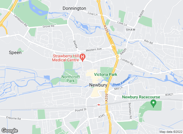 Map for Strutt & Parker, Newbury