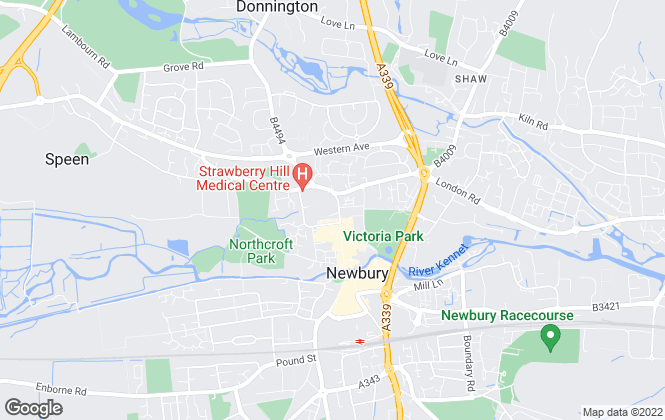 Map for Belvoir, Newbury
