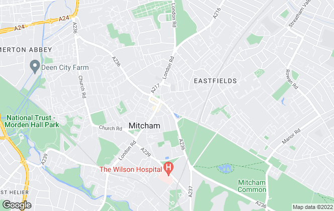Map for Barnard Marcus, Mitcham