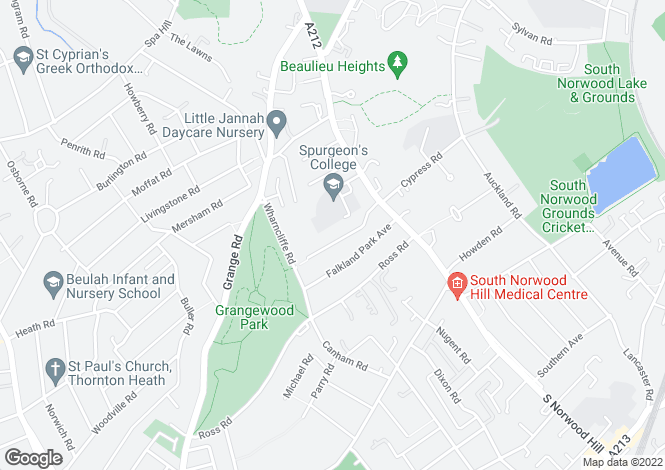 Map for Wharncliffe Gardens South Norwood SE25