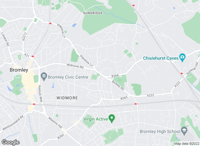 Map for Homefront Estate Agents, Bromley