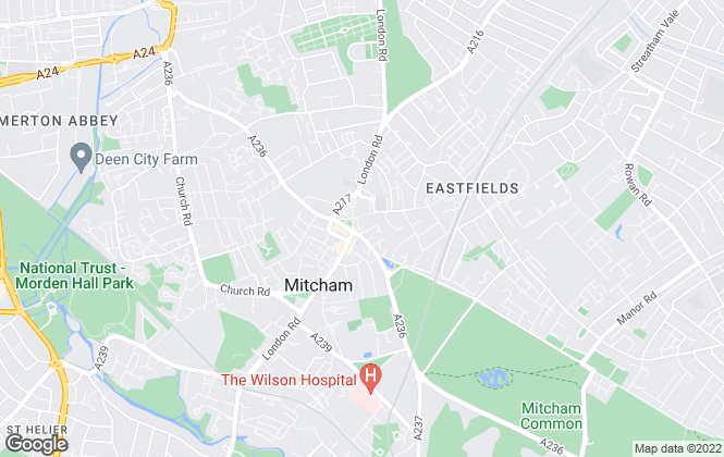 Map for Andrews Lettings and Management, Mitcham