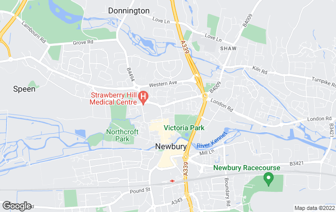 Map for Regent Lettings, Newbury