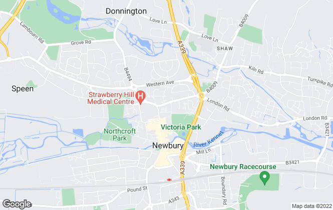 Map for Regent Lettings, Newbury