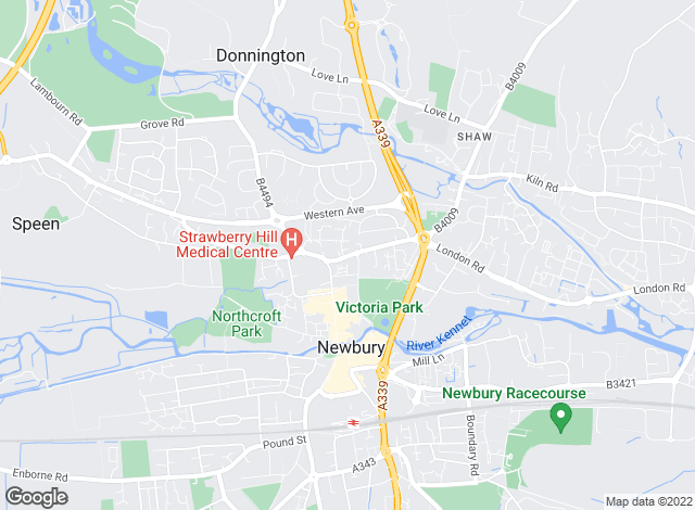 Map for Jackson-Stops & Staff, Newbury