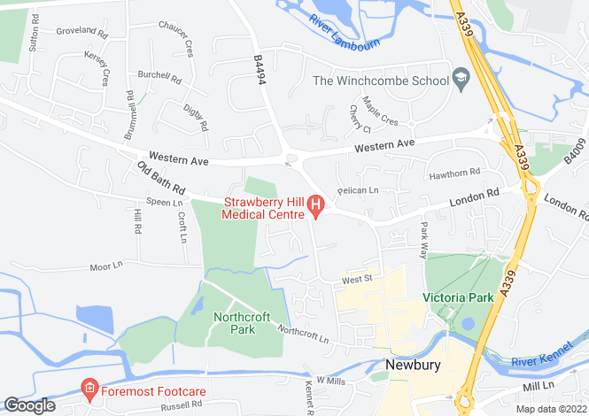 Map for Maplespeen Court, Newbury, Newbury, West Berkshire, RG14