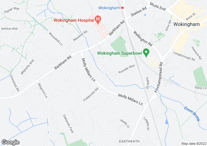 Map for Ashville Way, Wokingham, RG41
