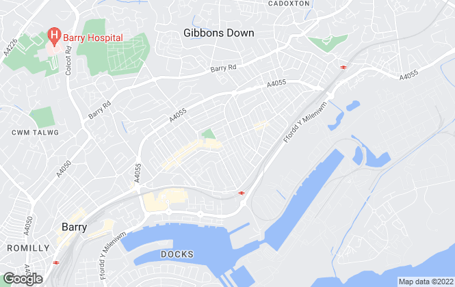 Map for Grove Estate Agents, Barry