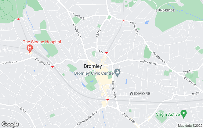 Map for Vincent Chandler Estate Agents, Bromley