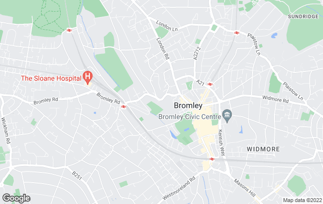 Map for Capital Estate Agents, Bromley