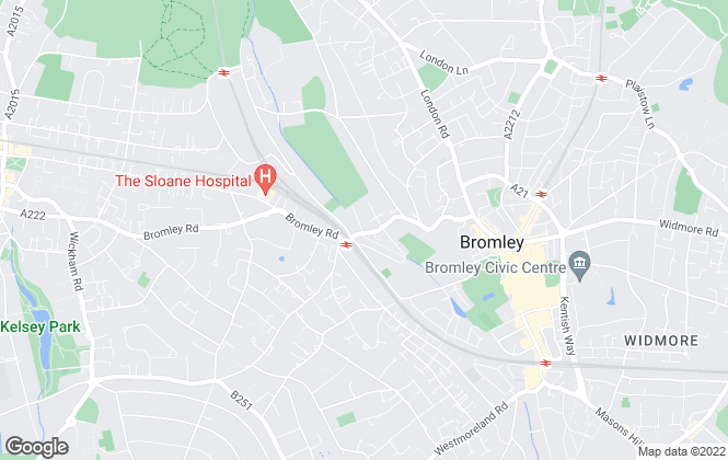 Map for Curran & Pinner , Bromley