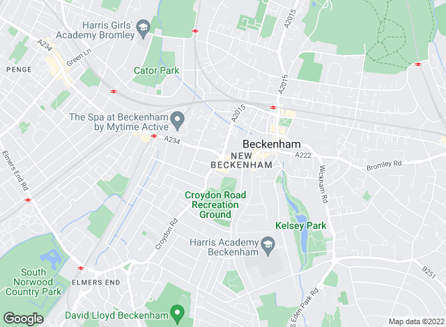 Map for YOUR MOVE, Beckenham