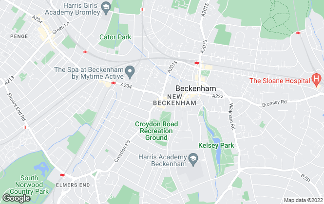 Map for Elite & Co, Beckenham