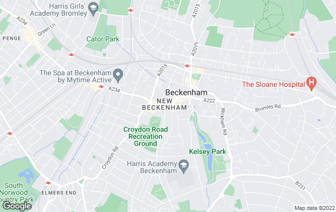 Map for Alan De Maid, Beckenham