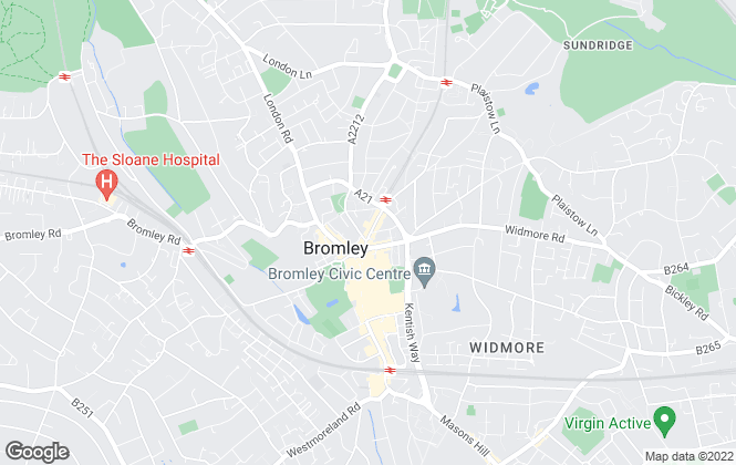 Map for Alan de Maid, Bromley