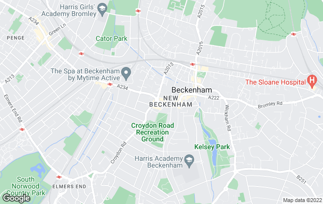 Map for Martin & Co, Beckenham - Lettings & Sales