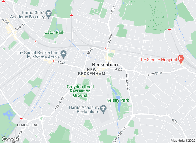 Map for Winkworth, Beckenham