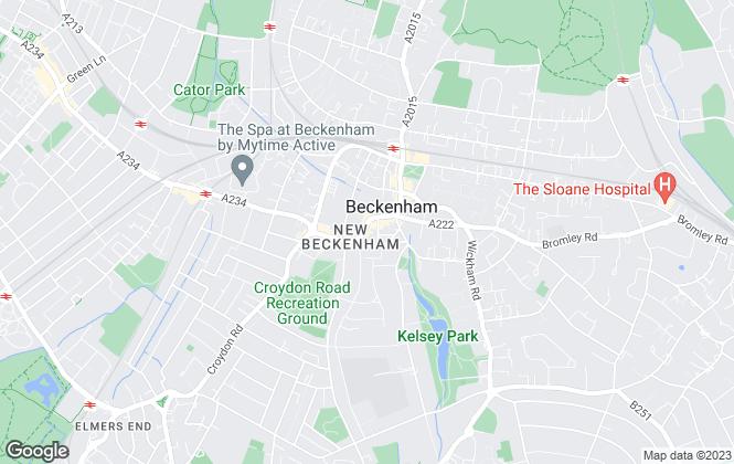 Map for Coady Phillips, Beckenham