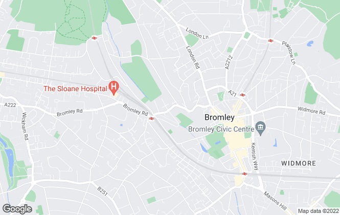 Map for Edward Ashdale, Bromley