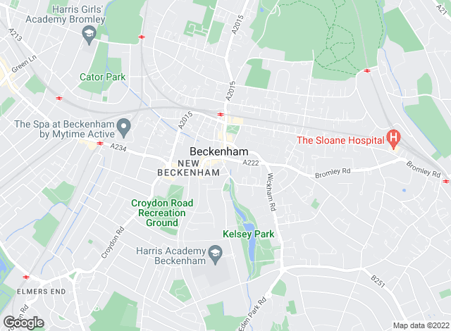 Map for Charles Eden, Beckenham