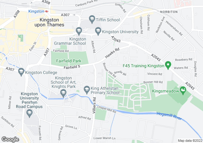 Map for Kingsworthy Close, Kingston Upon Thames KT1
