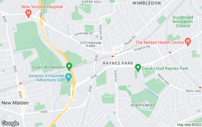 Map for Kinleigh Folkard & Hayward - Sales, Raynes Park
