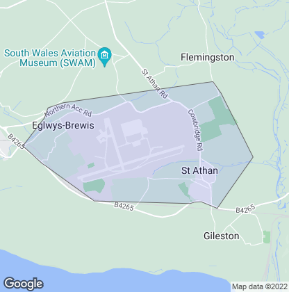Map of property in St. Athan