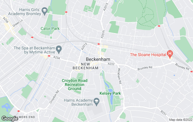 Map for Foxtons, Beckenham