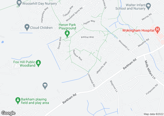 Map for Swallow Way, Woosehill, Wokingham, RG41