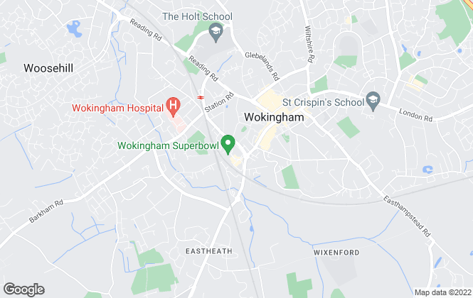 Map for Hat and Home, Wokingham