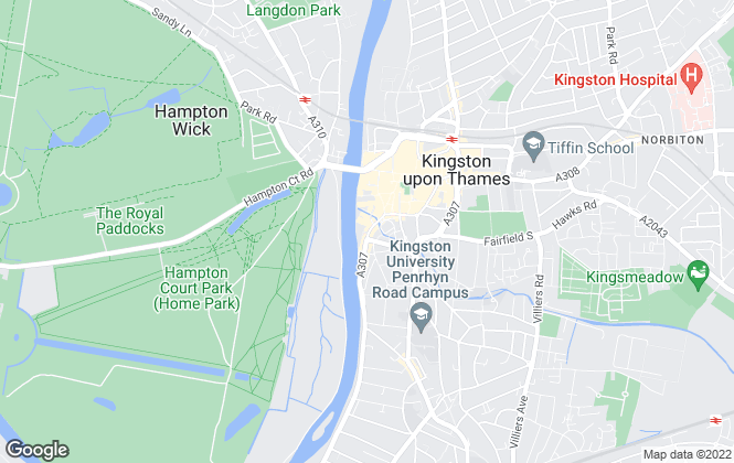 Map for Hamptons International Lettings, Kingston Lettings