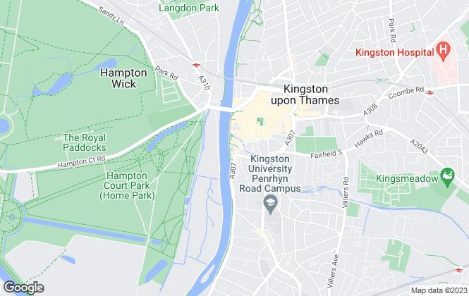 Map for Hamptons International Lettings, Kingston