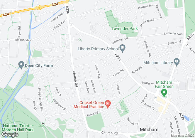 Map for Dalton Mews Mitcham Surrey CR4