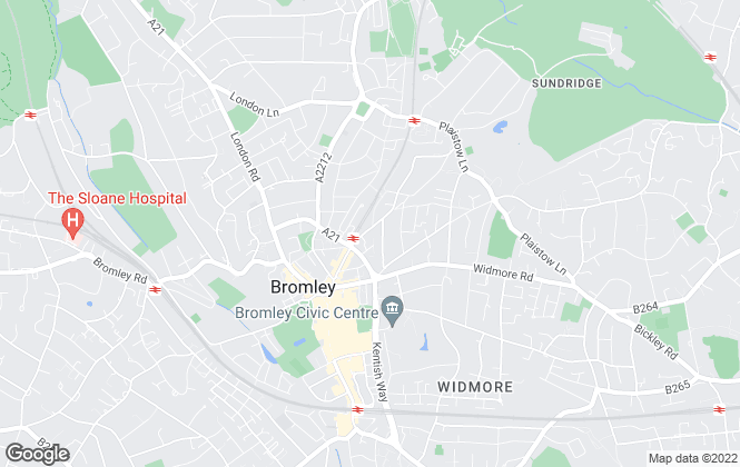 Map for Acorn, New Homes - Bromley