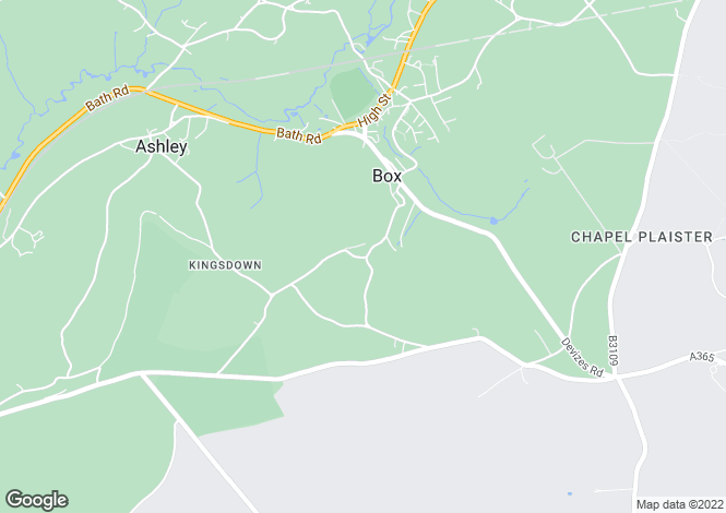 Map for Henley, Box, Corsham, Wiltshire, SN13