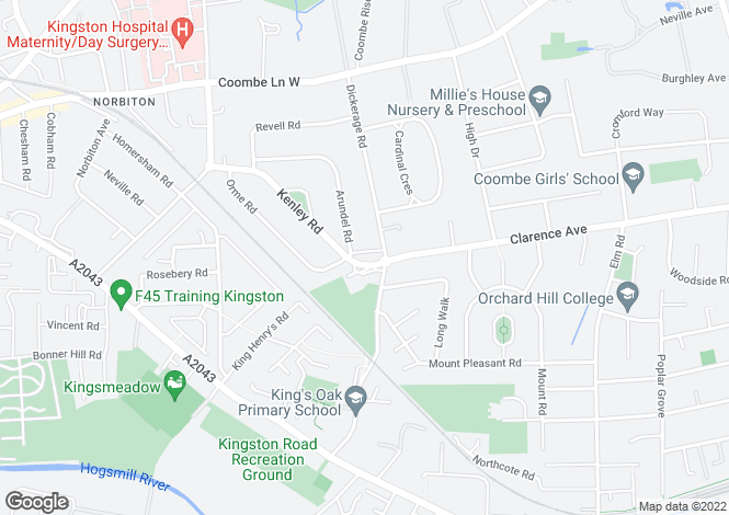 Map for Brewster Place, Kingston, KT1