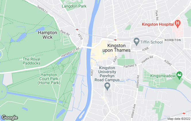 Map for Cocoon (UK), Kingston upon Thames