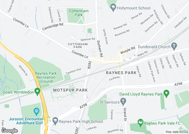 Map for Coombe Lane, Raynes Park, SW20