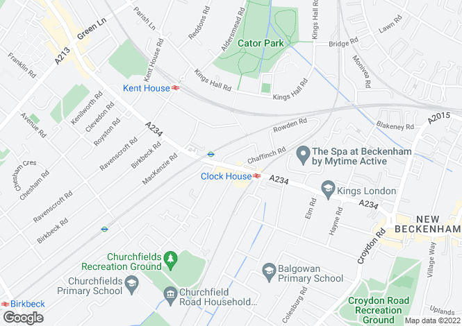Map for Beckenham Road BR3