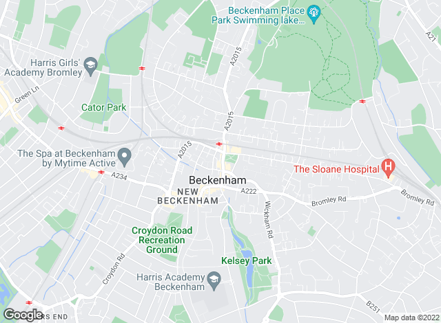 Map for Mann Countrywide, Beckenham