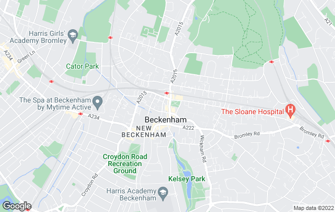 Map for Mann Lettings, Beckenham