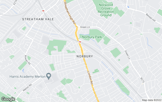 Map for Bairstow Eves Lettings, Norbury