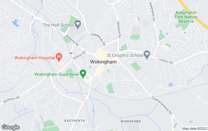 Map for Romans, Wokingham