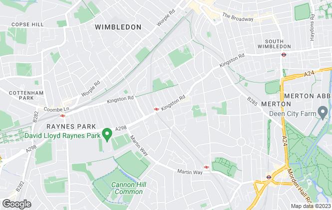 Map for Vanstones, Wimbledon